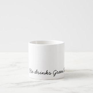 He drinks Green Tea Espresso Cup