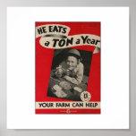 He Eats A Ton! Posters