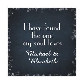 He encontrado el mis amores del alma con nombres impresiones en lona