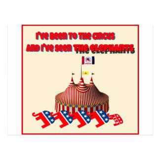 He estado al circo y he visto el elefante tarjeta postal
