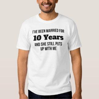 He estado casado por 10 años playeras