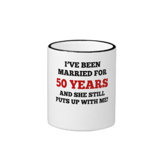 He estado casado por 50 años taza a dos colores