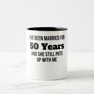 He estado casado por 50 años taza dos tonos