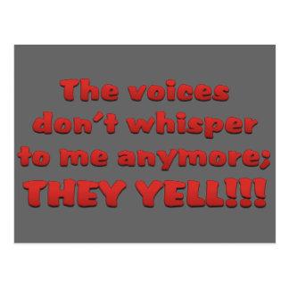 He estado oyendo voces en mi cabeza postales