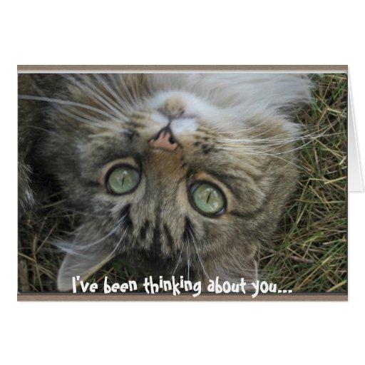 He estado pensando en usted… tarjeta de felicitación