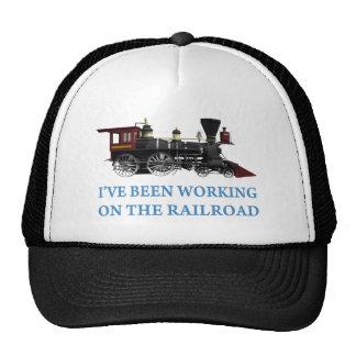 He estado trabajando en el ferrocarril gorras de camionero