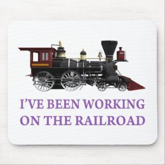 He estado trabajando en el ferrocarril tapete de raton