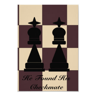 """""""He Found His Checkmate"""" Two Kings Invitation"""