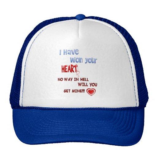 He ganado su gorra del corazón