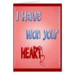 He ganado su tarjeta del corazón