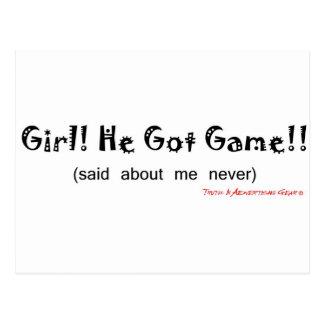 He Got Game - Said About Me Never Postcard