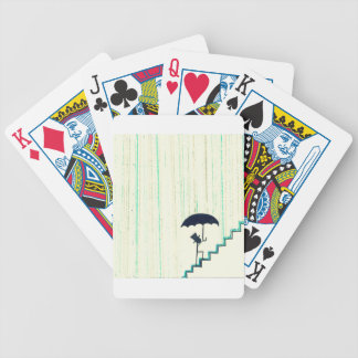 he got his feet wet... bicycle playing cards
