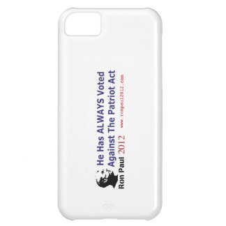 He Has Always Voted Against The Patriot Act iPhone 5C Cover