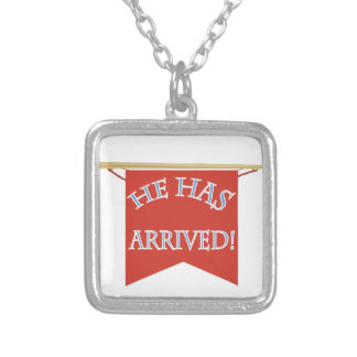 He Has Arrived Square Pendant Necklace
