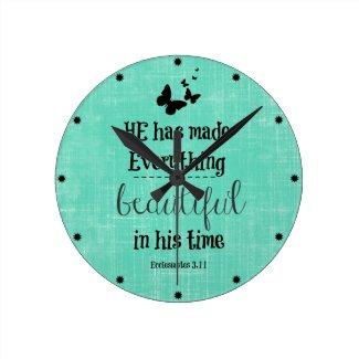 He has made everything beautiful bible verse clock