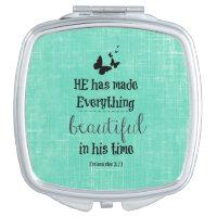 He has made everything beautiful bible verse vanity mirror