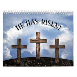 He Has Risen 3 Rugged Crosses Calendar