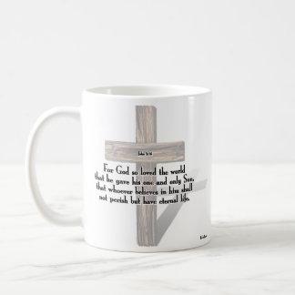 He Has Risen 3 Rugged Crosses + John 3 16 Coffee Mugs