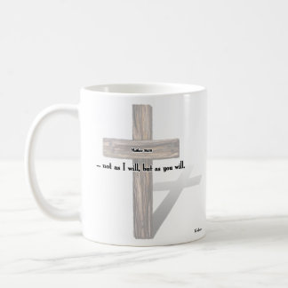 He Has Risen 3 Rugged Crosses Matthew 26 39 Coffee Mug