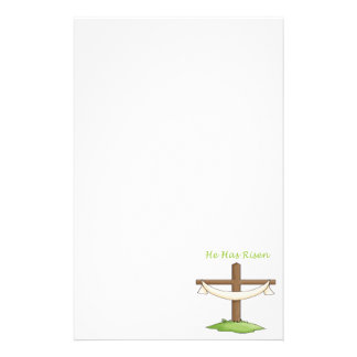 He Has Risen Cross Personalized Stationery