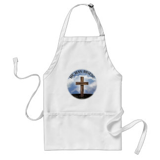 He Has Risen Rugged Cross Sky Adult Apron
