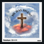 """He Has Risen Rugged Cross With Clouds Wall Decal<br><div class=""""desc"""">He Has Risen Rugged Cross With Clouds</div>"""