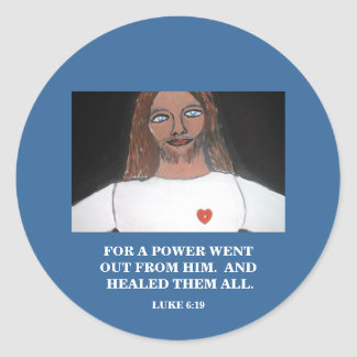 HE HEALED THEM ALL CLASSIC ROUND STICKER