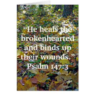 """He heals the brokenhearted""... Card"