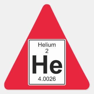 He - Helium Triangle Sticker