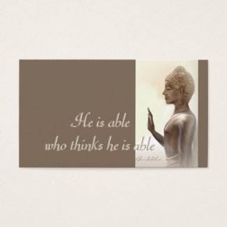He is able...Buddha Quote Business Card