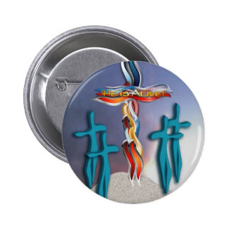 """""""He is Alive"""" Cross Pinback Button"""