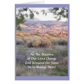 He Is Always There! Greeting Card (blank)
