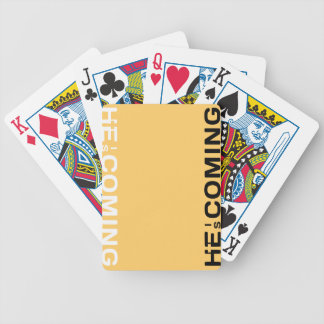 He Is Coming. Get To Know Him Today Bicycle Playing Cards