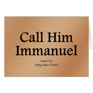 He is Immanuel Isaiah 7:14 Stationery Note Card