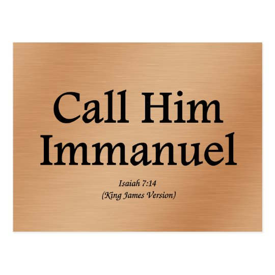 He is Immanuel Isaiah 7:14 Postcard