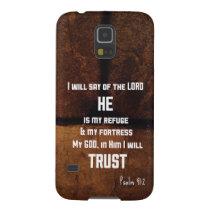 He Is My Refuge Samsung Galaxy S5 Case
