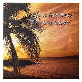 He is not here; He has risen! Luke 24:6 Tiles