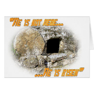 He is not here ... He is risen! Card