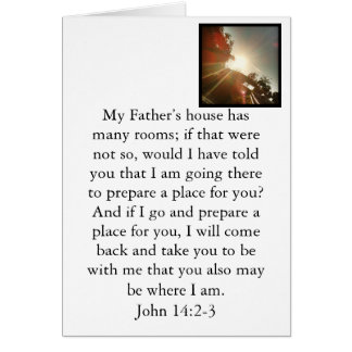 He is preparing a place for you. card