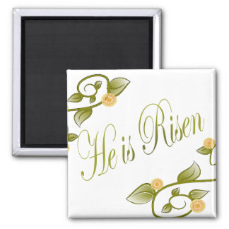He is Risen 2 Inch Square Magnet