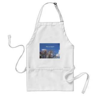 He is risen! adult apron