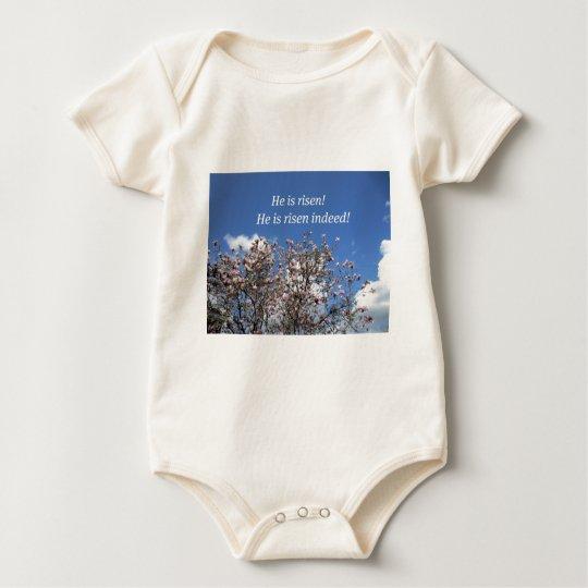 He is risen! baby bodysuit