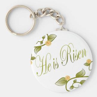 He is Risen Basic Round Button Keychain