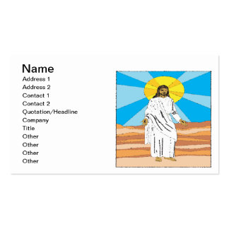 He Is Risen Business Card Templates