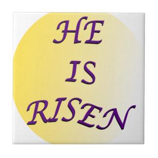 He Is Risen Ceramic Tile