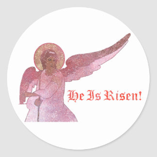 He Is Risen! Classic Round Sticker