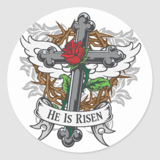 He Is Risen Classic Round Sticker