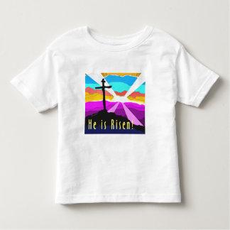 He is risen cross Christian Gift design Toddler T-shirt