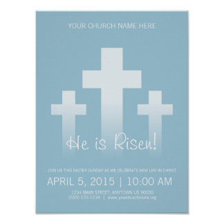 He is Risen! Customizable Easter Sunday Poster