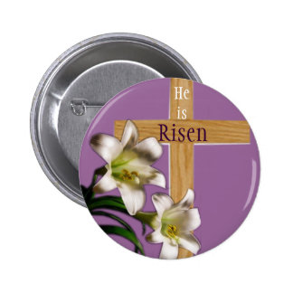 He is Risen Easter Button